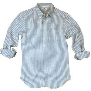 Other - NWT! Madda Fella Ernest Linen Stripe Shirt. Size L